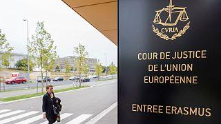 Entrada do Tribunal de Justiça da União Europeia, no Luxemburgo