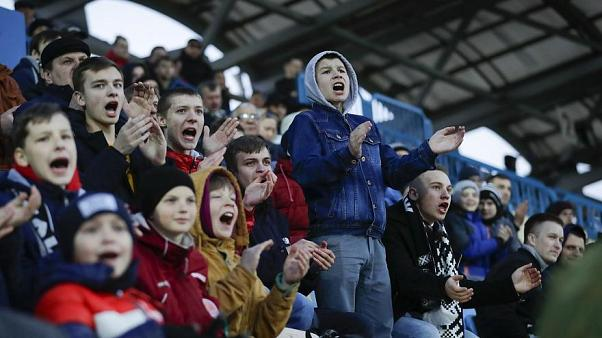 Fans bei einem Fußballspiel in Weißrussland am 27. März 2020
