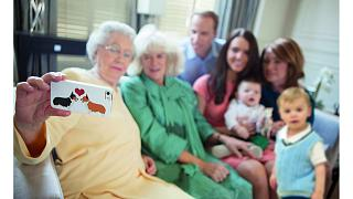 Alison Jackson's depiction of a Royal Family selfie