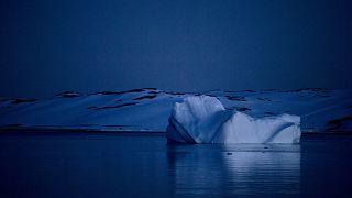 Antarktika'nın Güney Shetland takımadasında yüzen bir buzdağı (2015 arşiv)