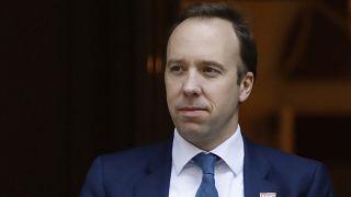 Britain's Health Secretary Matt Hancock to speak on latest coronavirus measures (Photo by Tolga AKMEN / AFP)