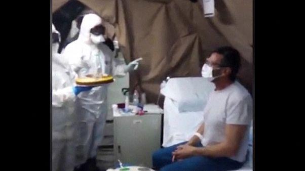 С днём рождения, Бруно! Военные врачи поздравили пациента