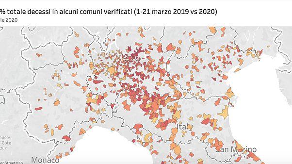 Tavalyi halálozási adatok mutatják a koronavírus pusztítását Olaszországban