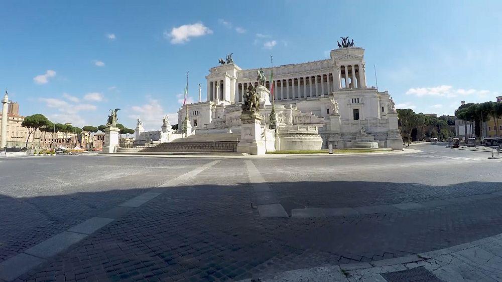 Coronavirus en Europa: viajando por Roma vacía en el cierre 56