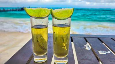 Tequila on the beach