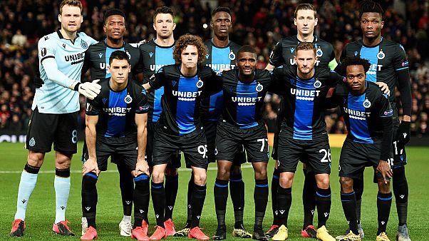 Les joueurs du FC Bruges lors du 16e finale retour de la Ligue Europa contre Manchester United, le 27 février 2020.