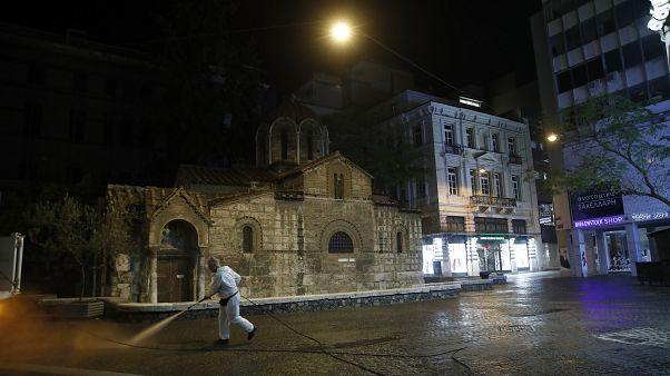 Virus Outbreak Greece Empty Athens Photo Gallery