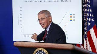 ABD Ulusal Sağlık Enstitüsü Bulaşıcı Hastalıklar Başkanı Dr. Anthony Fauci Beyaz Saray'da konuştu