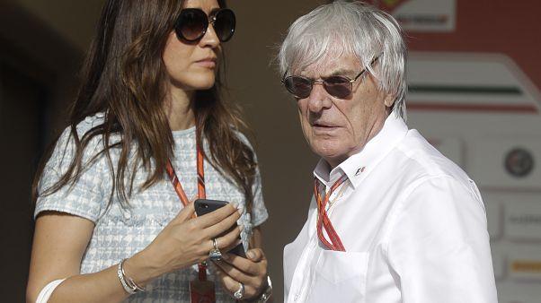 Bernie Ecclestone ve kendisinden 46 yaş küçük olan eşi Fabiana Flosi.