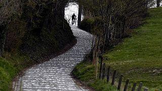 """Один из традиционных участков """"Тура Фландрии"""" во время карантинных мер."""