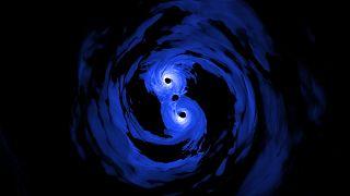 NASA tarafından oluşturulan kara delik simülasyonu.