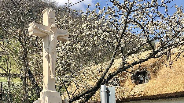 Virágvasárnap, 2020. április 5., feszület a Rókarántón