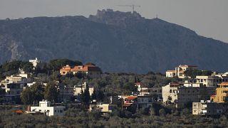 صورة في النبطية بجنوب لبنان تظهر في أعلاها قلعة شقيف وبلدة كفر كلا. 30/01/2018