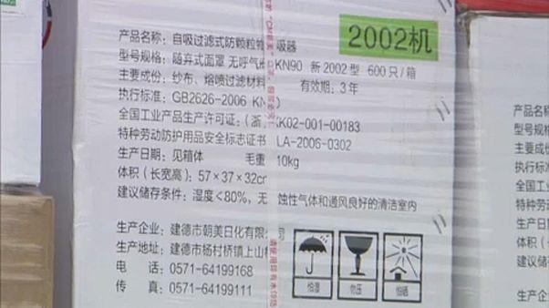 Kiste mit medizinischer Ausrüstung aus China