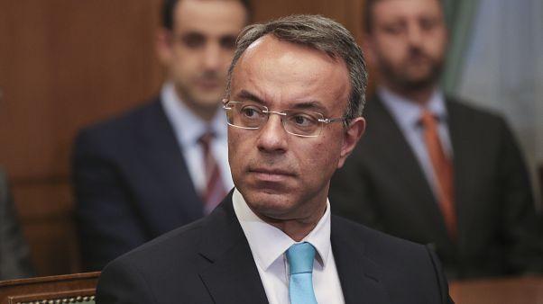 Greek Finance Minister Christos Staikouras,