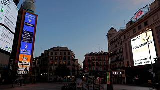 العاصمة الإسبانية مدريد أثناء الإغلاق العام