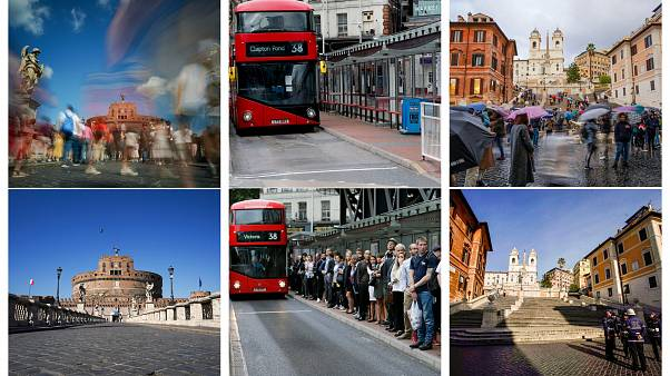COVID-19: Φωτορεπορτάζ σε Λονδίνο και Ρώμη - Πως ήταν πριν και πως είναι τώρα