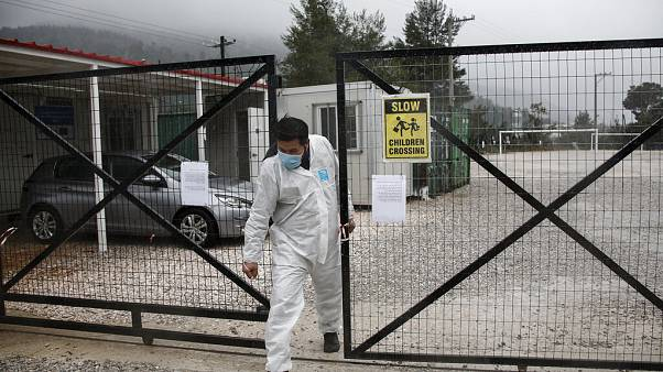 Virus Outbreak Greece Migrants