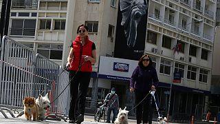 وباء كورونا: جدل في قبرص بسبب استثناء الأطفال من إذن الخروج والتساهل مع نزهات الكلاب