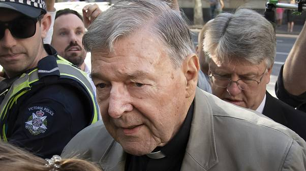 In this Feb. 27, 2019, file photo, Cardinal George Pell arrives at the County Court in Melbourne, Australia.