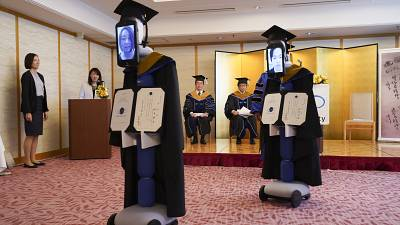 Avatar robots attend graduation in place of students in Tokyo amid coronavirus concern