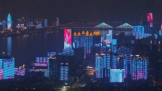 Midnight light show as Wuhan lifts coronavirus lockdown