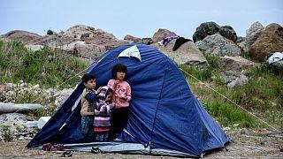 مخيمات اللاجئين في جزيرة ليسفوس اليونانية