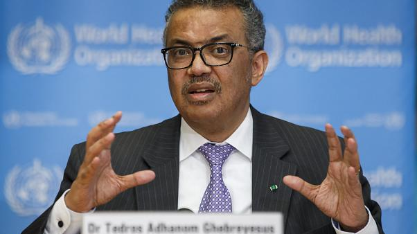 File Photo: Tedros Adhanom Ghebreyesus, Director General of the World Health Organization speaks during a news conference on updates regarding COVID-19