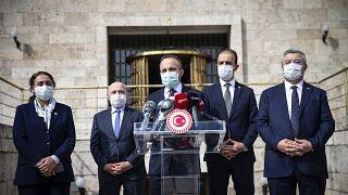AK Parti Grup Başkanvekili Bülent Turan, TBMM'de basın toplantısı düzenledi