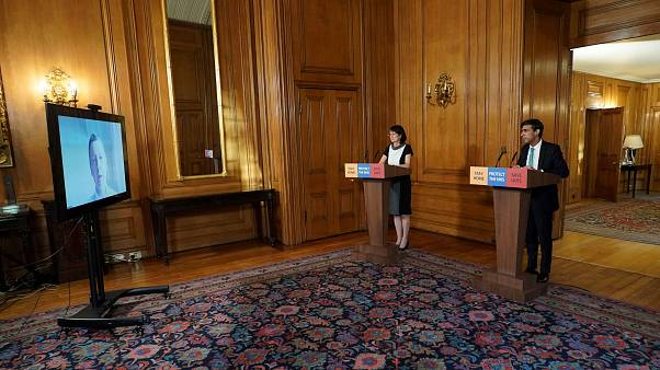 Chancellor Rishi Sunak holds a digital press conference about the COVID-19 coronavirus