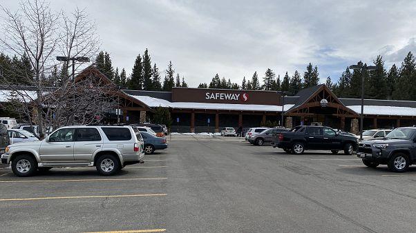 Le supermarché de South Lake Tahoe - Californie - où une escroqueuse a été arrêtée, 7 avril 2020