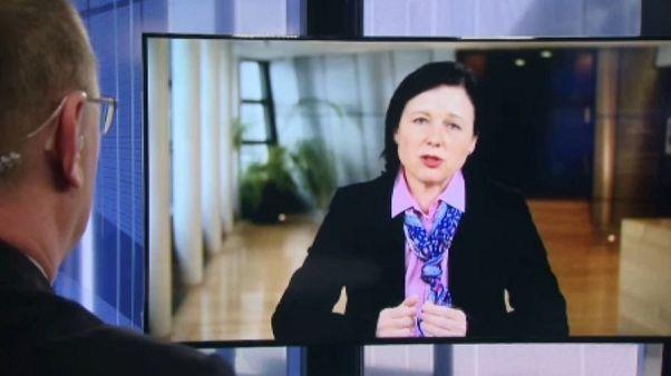 Η Αντιπρόεδρος της Κομισιόν Βέρα Γιούροβα στο Euronews