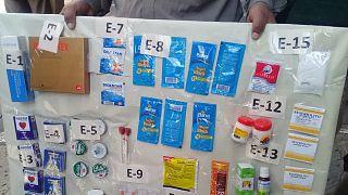 Bolíviában lefoglalt hamis gyógyszerek
