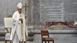 Virus Outbreak Vatican Holy Thursday