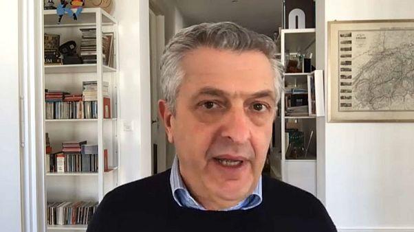 Скриншот видео интервью по Skype с Филиппо Гранди.