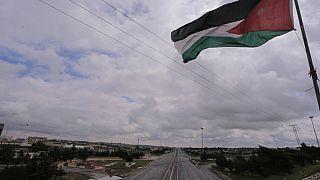 شوارع العاصمة الأردنية عمّان تبدو خالية بعد حظر التجول على الصعيد الوطني   21/03/2020