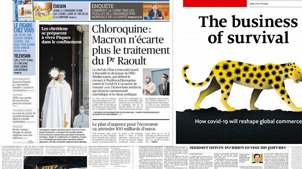 How have European newspapers been covering the coronavirus crisis?