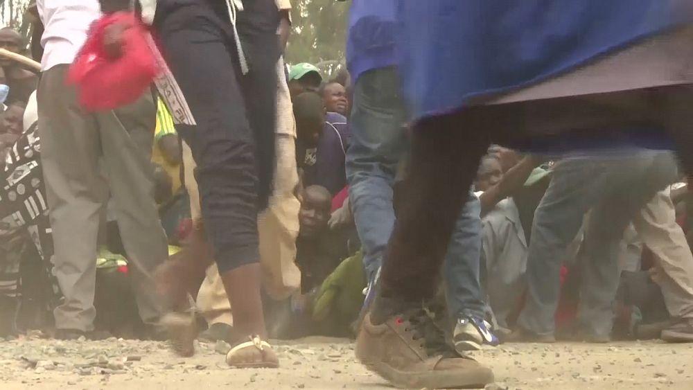 Кения: давка из-за еды
