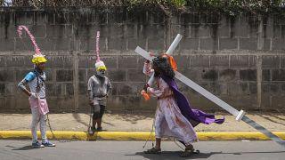 Virus Outbreak Nicaragua Good Friday