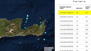 Σεισμική δόνηση στην Κρήτη