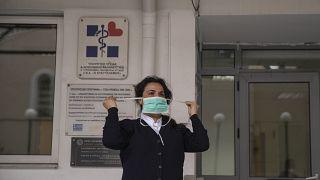 Virus Outbreak Greece Health Protest