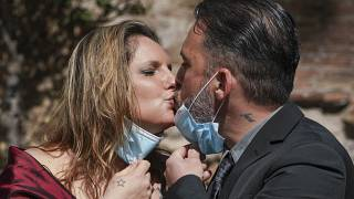 APTOPIX Virus Outbreak Italy Wedding