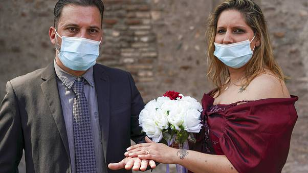 Virus Outbreak Italy Wedding