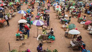 سوق ناكاسيرو في كمبالا، أوغندا