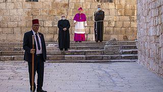 Virus Outbreak Mideast Jerusalem Holy Thursday