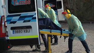 Nuevo repunte en España: 619 muertos en un día