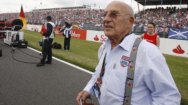 Stirling Moss in Silverstone, 2009