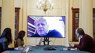 picture released by 10 Downing Street, the office of the British prime minister on March 28