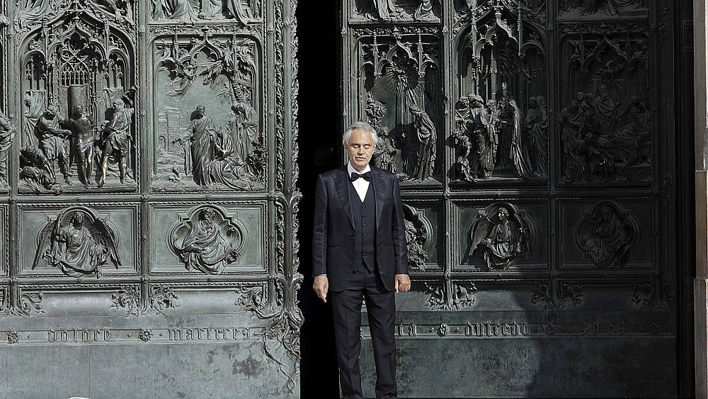 Easter: Andrea Bocelli sings in empty Duomo di Milano cathedral amidst coronavirus lockdown
