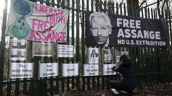 Julian Assange's partner revealed Saturday that she had two children with him while he lived inside the Ecuadorian Embassy in London.